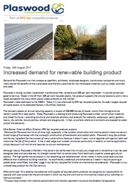 Increased demand for renewable building product PDF